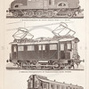 Vintage sepia illustration of Trains from Meyers Konversations Lexikon 1913 Encyclopedia.  Antique digital download of old print - train; car; locomotive; locomation; transportation; automobile; wheels; track; train car; gears; mechanical; steampunk.  The natural age-toning, paper stains, and antique printing imperfections are preserved in this 1900s stock image.