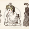 Vintage 1900s Color Gibson Girl Illustration from THE GIBSON BOO