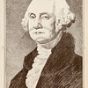 Vintage illustration of George Washington Portrait, c1800s.  Th