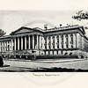 Vintage 1900s Sepia Photogravure Illustration of the Treasury Department from MESSAGES & PAPERS OF THE PRESIDENTS by James Richardson.  The natural patina, age-toning, imperfections, and old paper antiquing of this vintage 20th century illustration are preserved in this image.
