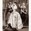 Vintage 1800s Black & White Illustration of Victorian Women - GODEY'S, PETERSON'S ETC.