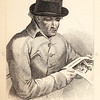 Vintage 1800s Sepia Illustration of a Satirical Character Portrait - THE BOOK OF WONDERFUL CHARACTERS by Henry Wilson.