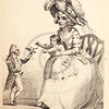 Vintage 1800s Sepia Illustration of a Satirical Character Depiction - THE BOOK OF WONDERFUL CHARACTERS by Henry Wilson.