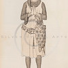 Vintage illustration of a Man wearing chainmail from DRESSES & D
