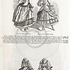 Vintage 1800s Sepia Illustration of Victorian women's dress fashions - GODEY'S & PETERSON'S LADY'S MAGAZINES.
