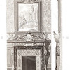 Vintage 1800s Sepia Illustration of a Mantel with Painting - GEW