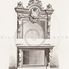 Vintage 1800s Sepia Illustration of Ornamental Decorative Furniture from GEWERBEHALLE by Willhelm Baumer.  The natural patina, age-toning, imperfections, and old paper antiquing of this vintage 19th century illustration are preserved in this image.