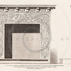 Vintage 1800s Sepia Illustration of Ornamental Decorative Fireplace from GEWERBEHALLE by Willhelm Baumer.  The natural patina, age-toning, imperfections, and old paper antiquing of this vintage 19th century illustration are preserved in this image.