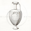 Vintage 1800s Sepia Illustration of Greek Vase.