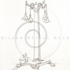 Vintage 1800s Sepia Illustration of Greek Ornaments.