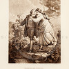 Vintage 1800s Sepia Illustration of Herman and Dorothea - THE LIBRARY OF CHOICE LITERATURE by A. Spofford.