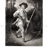 Vintage 1800s Black & White Illustration of a Young Soldier - A PICTORIAL HISTORY OF THE WORLD'S GREATEST NATION by Charlotte Yonge.