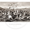 Vintage 1800s Black & White Illustration of the Battle of Constantine - A PICTORIAL HISTORY OF THE WORLD'S GREATEST NATION by Charlotte Yonge.
