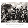 Vintage 1800s Black & White Illustration of King Charles II - A PICTORIAL HISTORY OF THE WORLD'S GREATEST NATION by Charlotte Yonge.