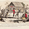 Vintage 1800s Color Illustration of Native American Dance - INDI