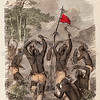 Vintage 1800s Color Illustration of Native American War Dance - INDIAN RACES OF NORTH & SOUTH AMERICA by Brownwell.