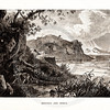 Vintage 1800s Sepia Illustration of Romulus and Remus Landscape - A PICTORIAL HISTORY OF THE WORLD'S GREATEST NATION by Charlotte Yonge.
