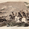 Vintage 1800s Color Illustration of Native American Buffalo Chas