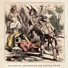 Vintage 1800s Color Illustration of Pocahontas - INDIAN RACES OF NORTH & SOUTH AMERICA by Brownwell.