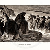 Vintage 1800s Sepia Illustration of the Departure of Medea - A PICTORIAL HISTORY OF THE WORLD'S GREATEST NATION by Charlotte Yonge.