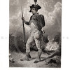 Vintage 1800s Black & White Illustration of a Continental Civil War Soldier - A PICTORIAL HISTORY OF THE WORLD'S GREATEST NATION by Charlotte Yonge.
