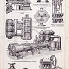 Vintage illustration of Steampunk Mechanical Machinery from Meyers Konversations Lexikon 1913 Encyclopedia.  Antique digital download of old print - steampunk; mechanical; machinery; industry; industrial; mechanics; gears.  The natural age-toning, paper stains, and antique printing imperfections are preserved in this 1900s stock image.