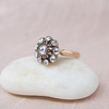 Rose Cut Diamond Floret Rose Gold Ring<br /> RCD