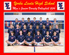 001-Volleyball Team JV Photo framed 2014 8 x 10