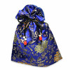satin bag small blu