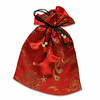 satin bag small red