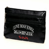 clutch vinyl blk embroider sam