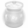 cookie jar frosted glass 2