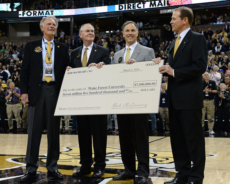 Bob McCreary donation to WFU athletic department