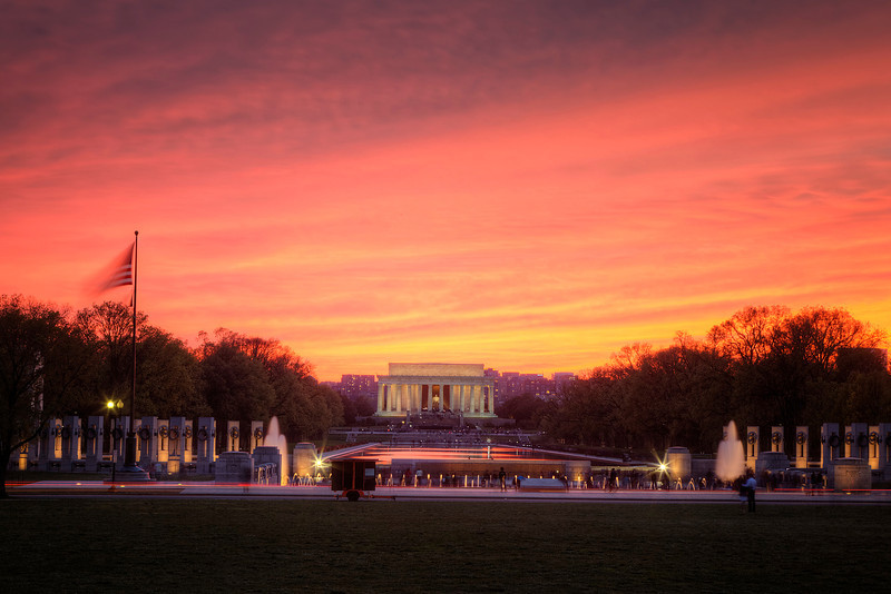 Lincoln Memorial at Sunset in Washington DC