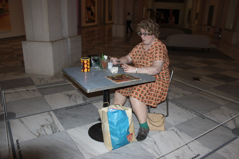 Woman Eating Soft Sculpture