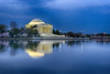 Pre Dawn Blue Hour Jefferson Memorial Reflection