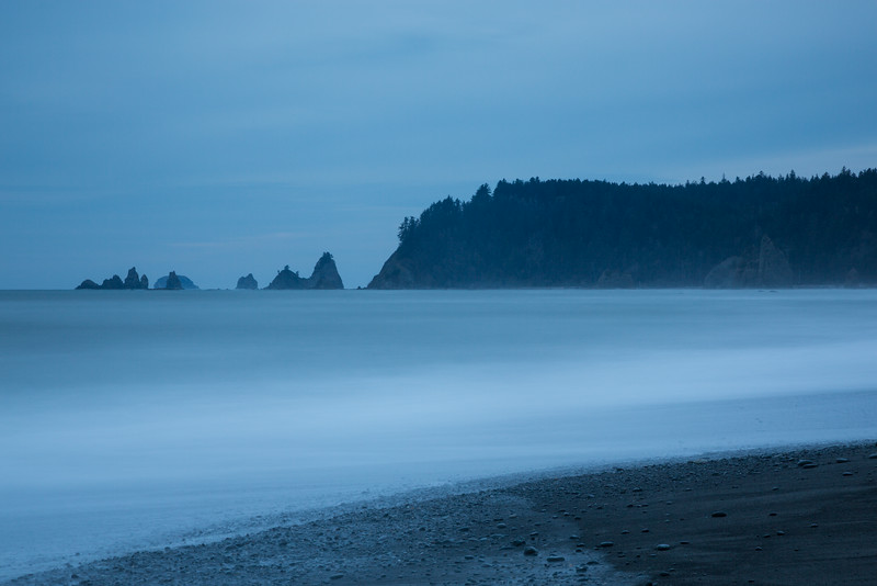 James Island viewed from shore. Taken at Rialto Beach, Olympic National Park, Washington, USA.
