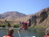 Nice backflip off the boat!