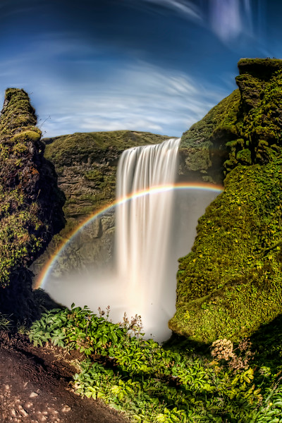 Iceland Skogarfoss long exposure