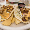 10K Volksmarch in Corpus Christi: lunch at Harrison's Landing in the marina - shrimp tacos. 12 Jan 2014.