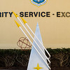 Maxwell AFB  - a monument depicting the USAF OTS emblem stands outside the building.<br /> Montgomery, AL - 3 Mar 2013