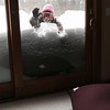 The Chu family writes: My daughter Michele bracing the snow drifts on our deck in Groton, MA