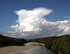 Developing cumulonimbus cloud over the Tararua ranges, 4pm 28 January 2010.