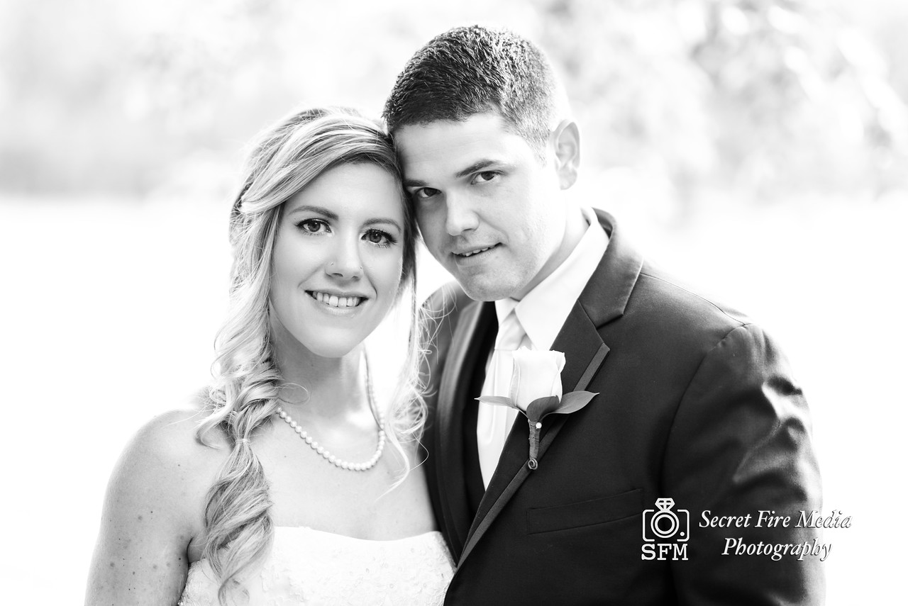 Black and White photo of bride and groom smiling at their Hudson Valley Wedding At Palacios in Goshen New York