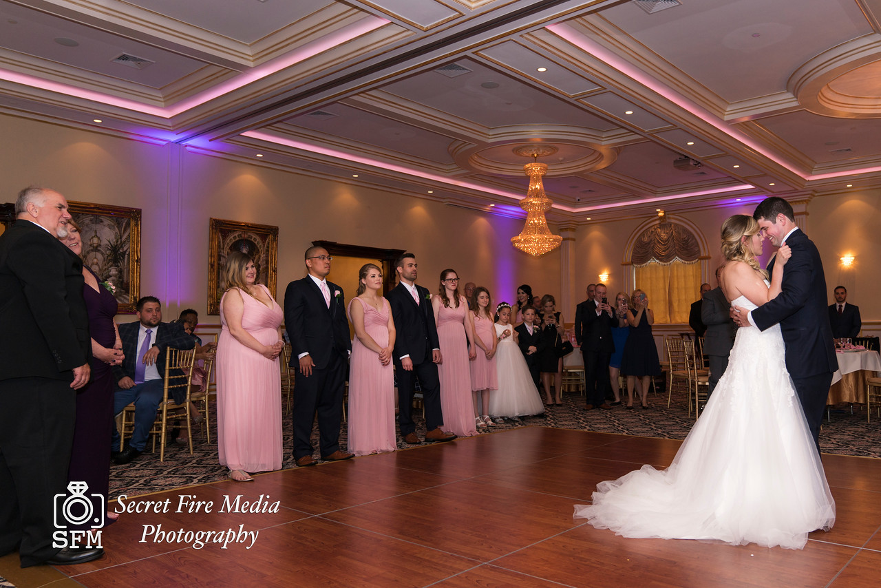 Bride and Grooms first dance their Hudson Valley Wedding At Palacios in Goshen New York
