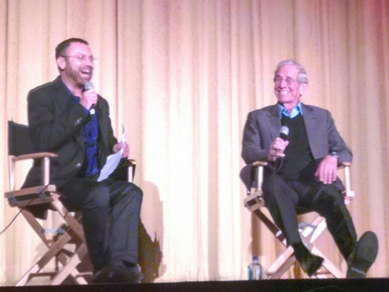 Israeli actor, Chaim Topol, in conversation with Donny Inbar at the Fiddler on the Roof Special Screening at Castro Theatre, SF