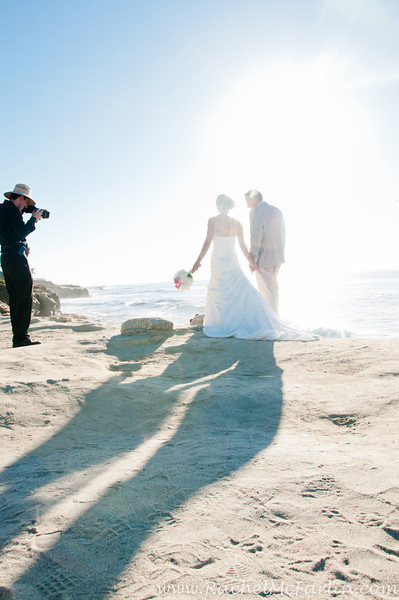 Top wedding photographer La Jolla San Diego - best most affordable wedding locations in San Diego for ocean view sunset wedding on the beach at La Jolla Cove Rachel McFarlin Photography