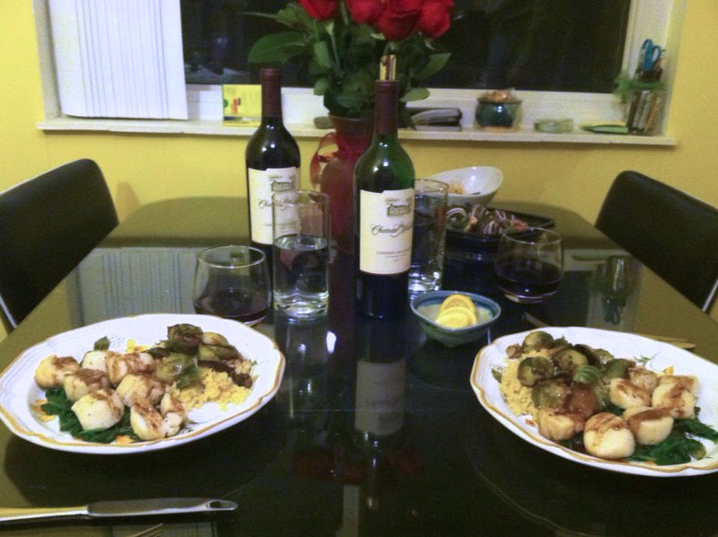 P&J romantic dinner