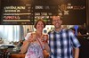 P&J raising a glass at Fremont Brewing