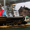 Record-Eagle/Pete Rodman<br /> A locomotive speeds by under the control of conductor Rowan Schultz, 10, at the 2014 Festival of Trains at the Traverse City History Center on Monday.